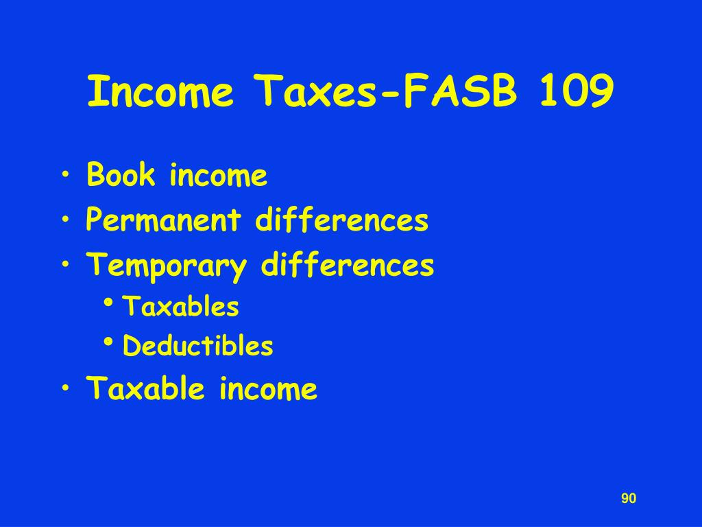 Income Taxes-FASB 109