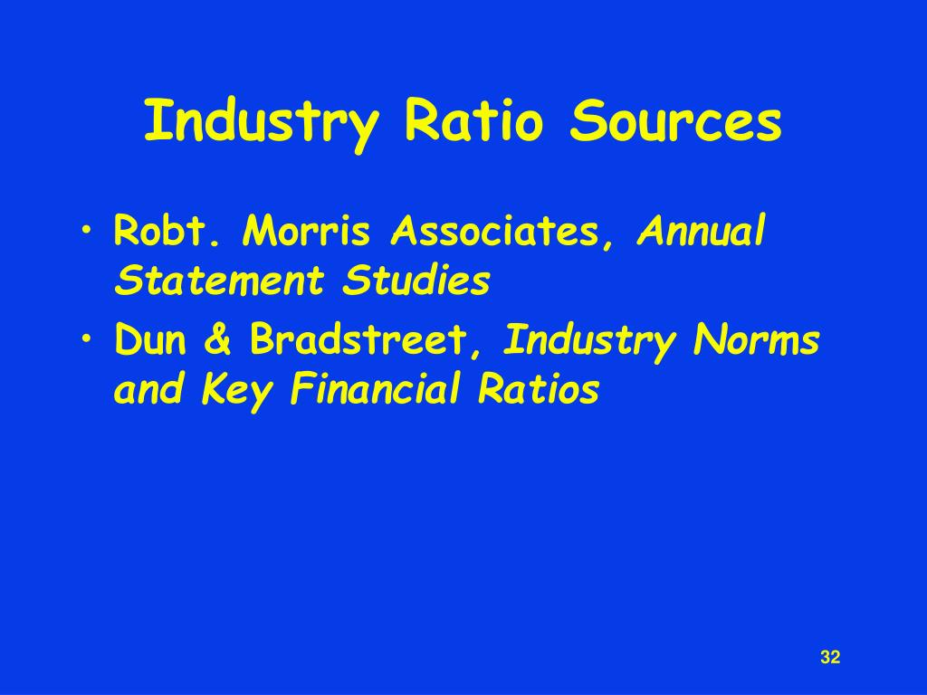 Industry Ratio Sources