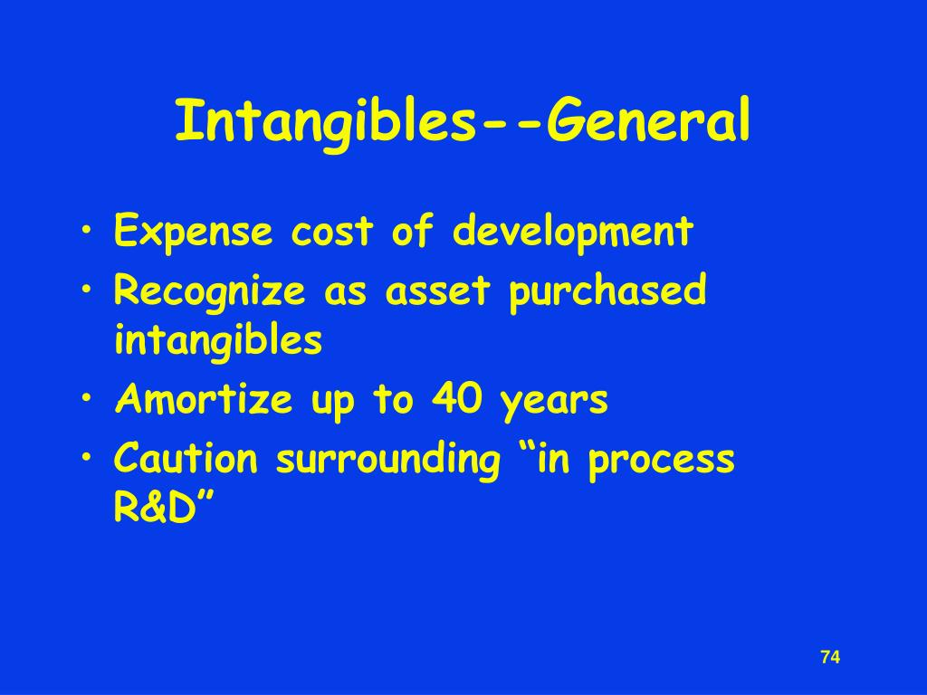 Intangibles--General