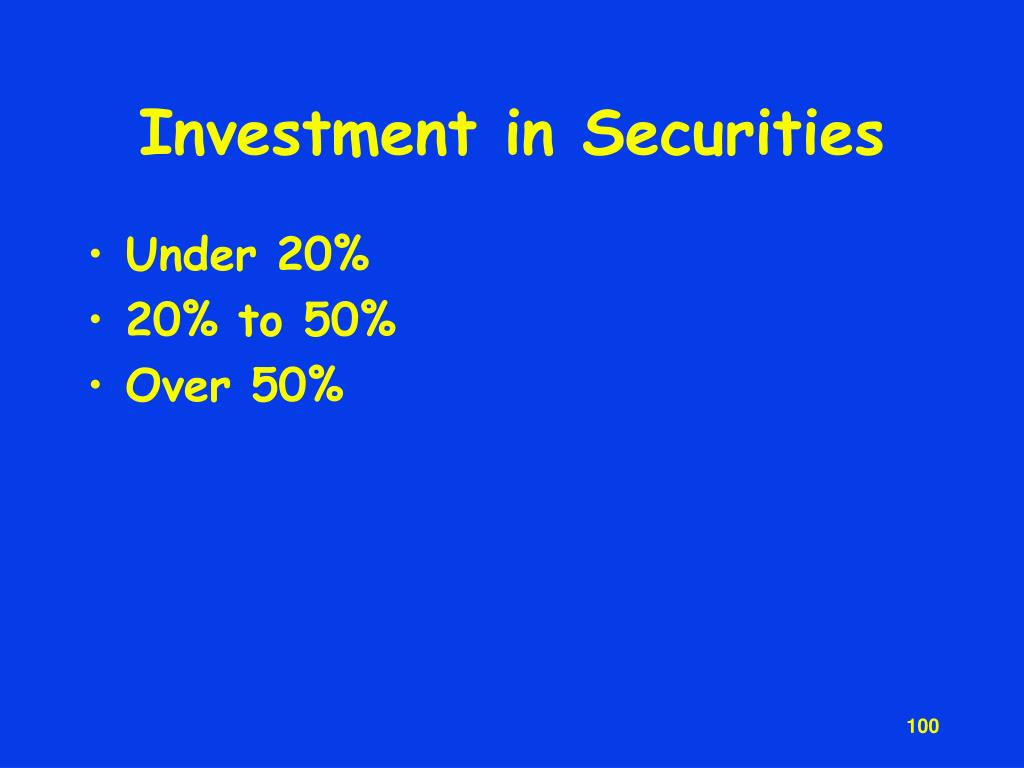 Investment in Securities