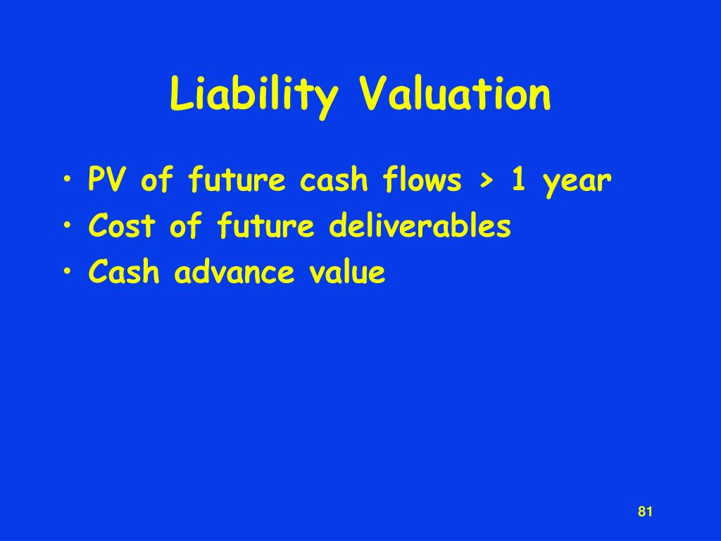 Liability Valuation
