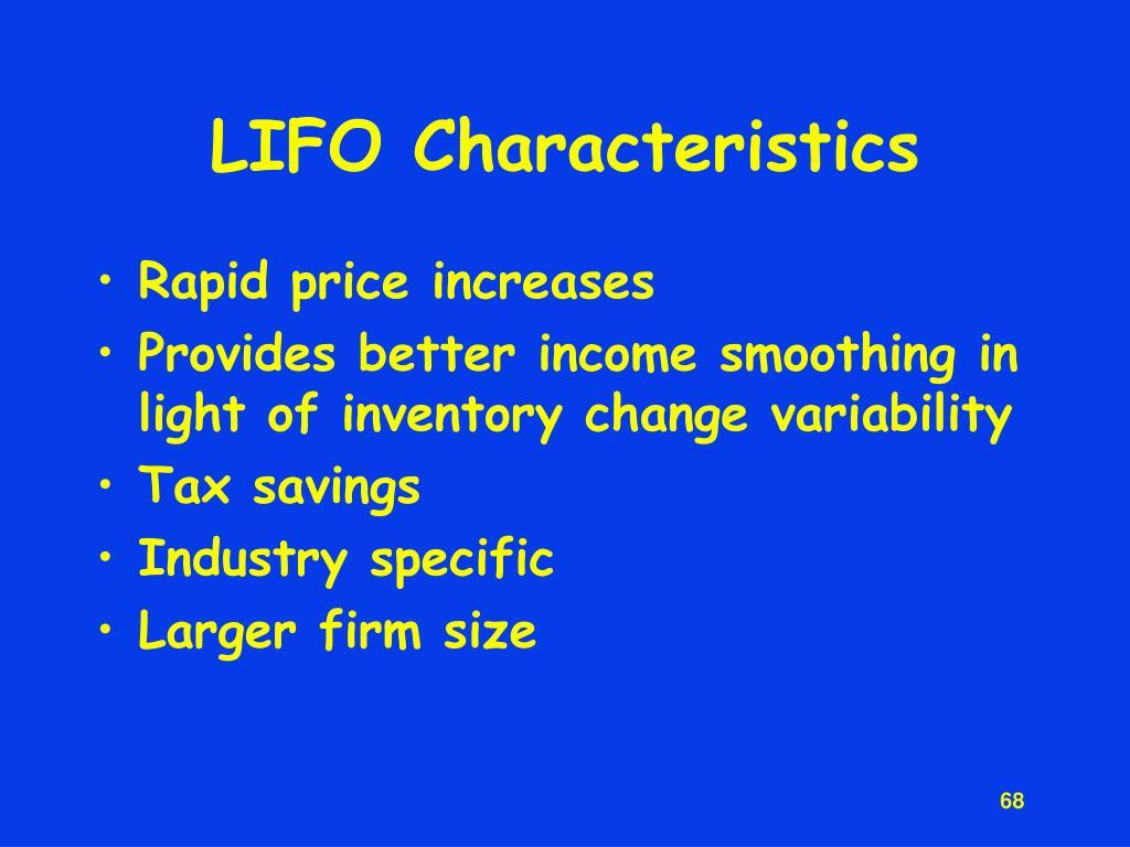 LIFO Characteristics