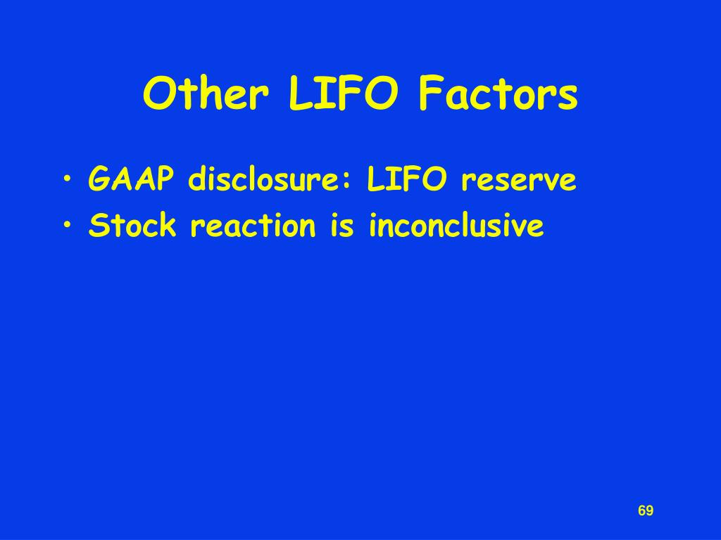 Other LIFO Factors