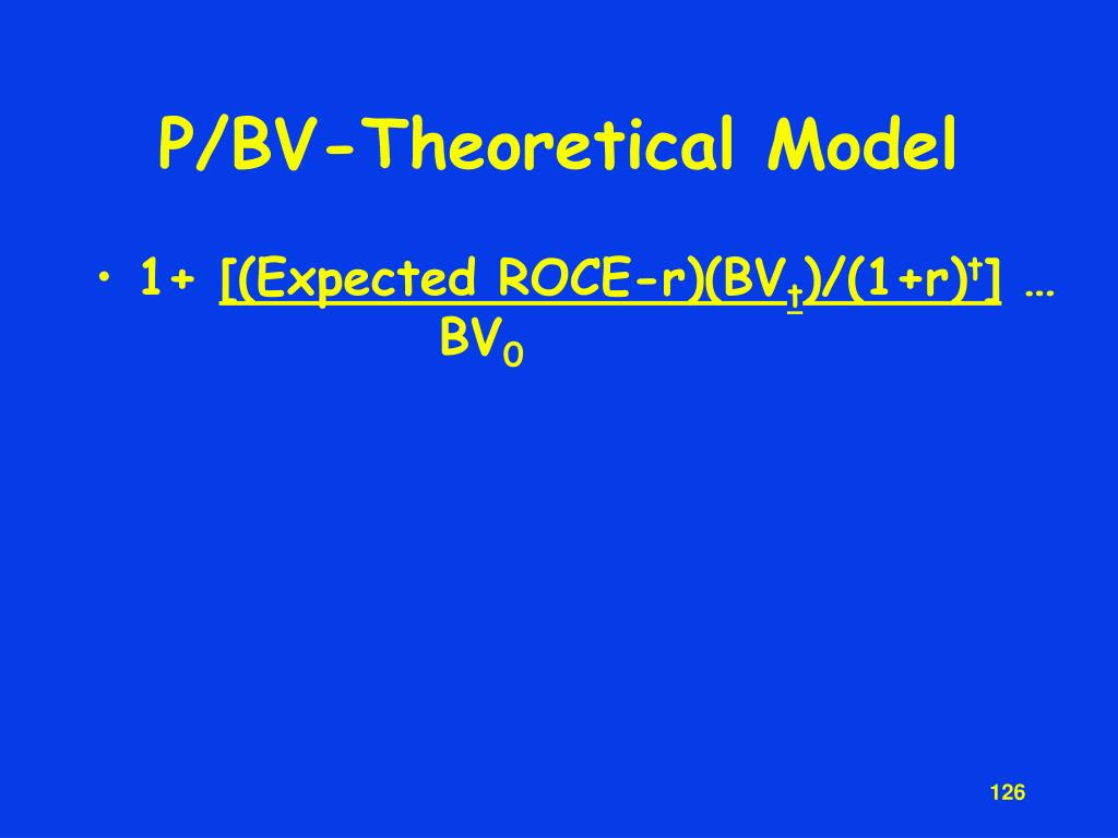 P/BV-Theoretical Model