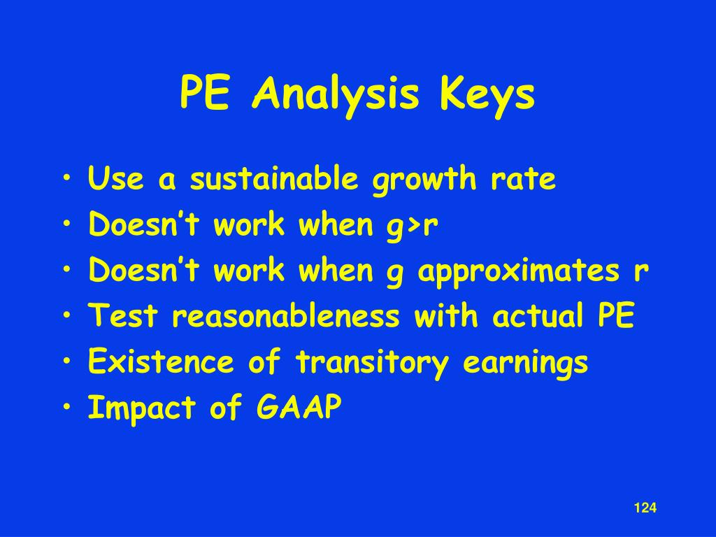 PE Analysis Keys