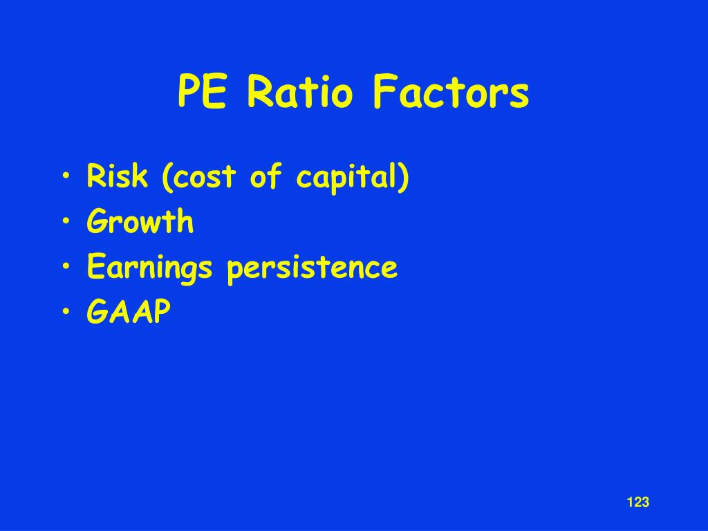 PE Ratio Factors