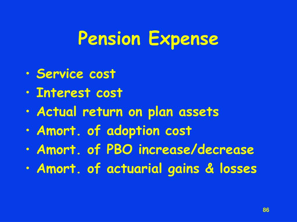 Pension Expense