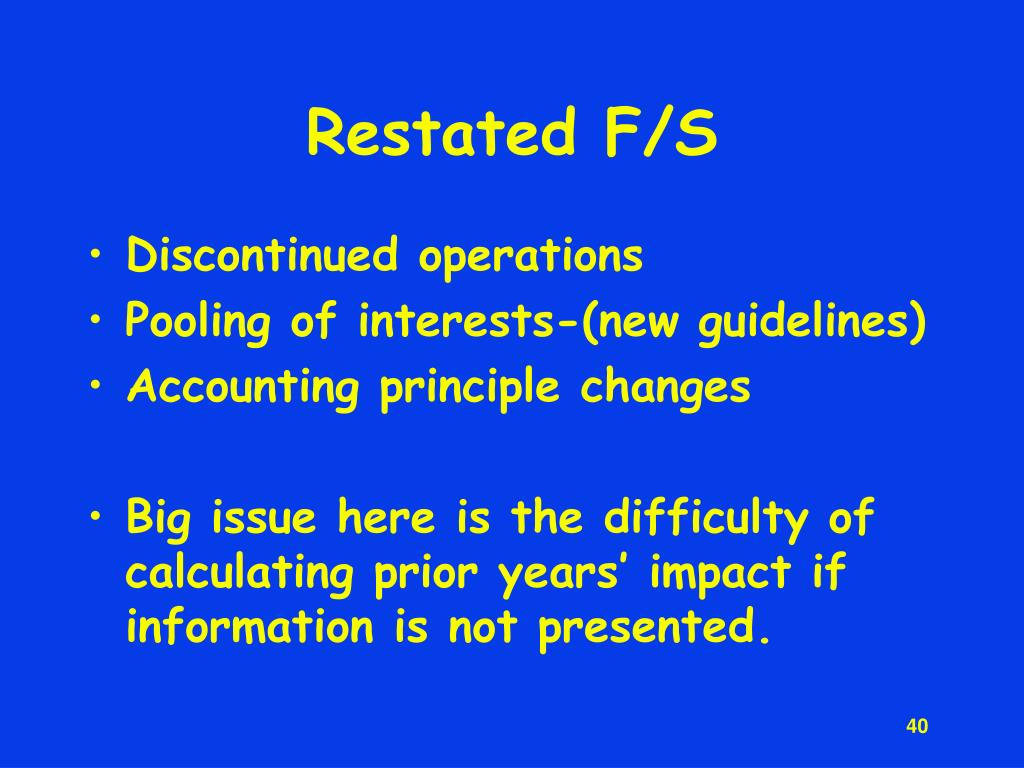 Restated F/S