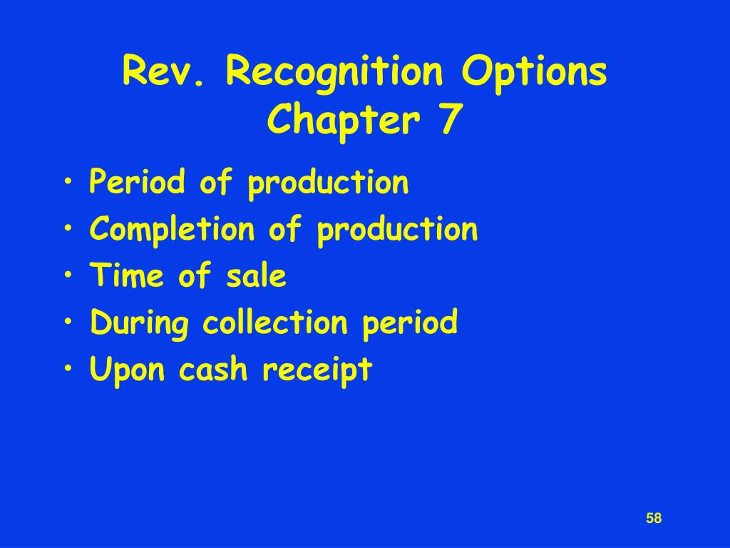 Rev. Recognition Options