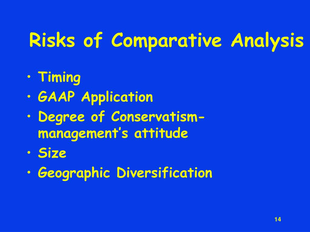 Risks of Comparative Analysis