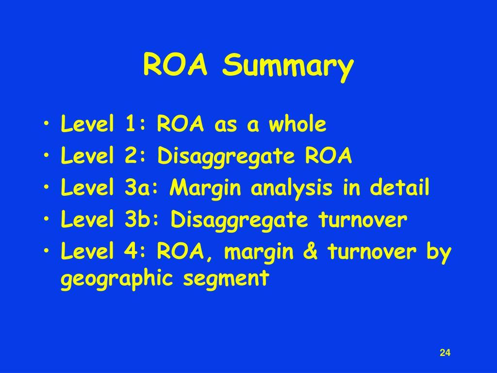 ROA Summary