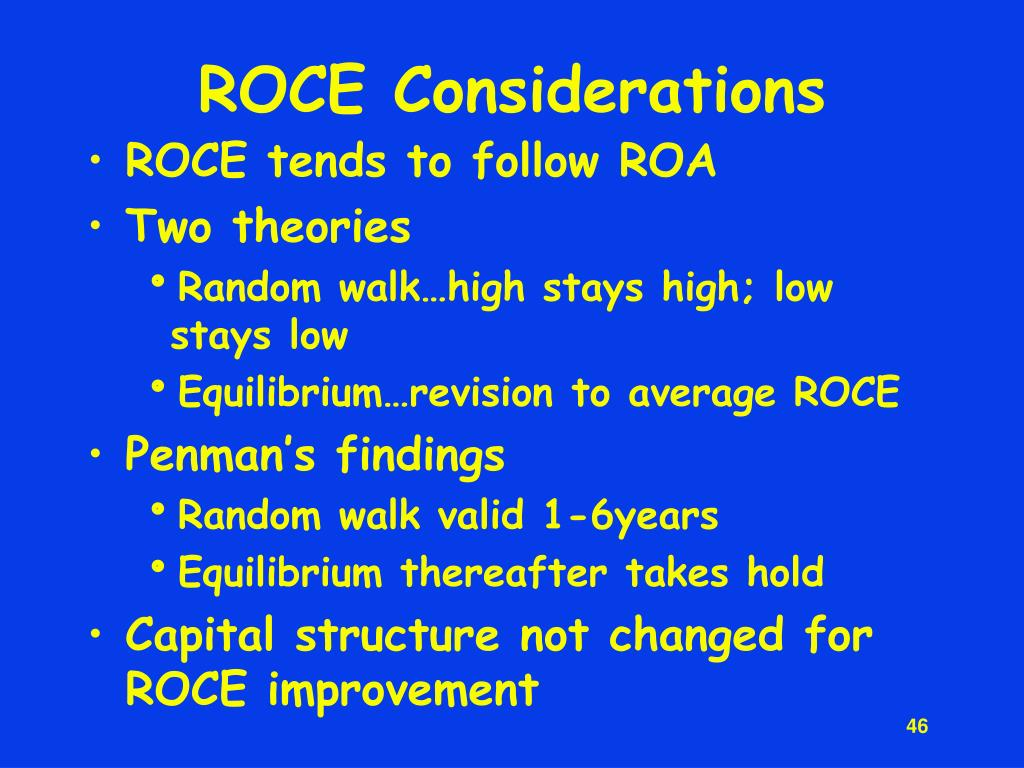 ROCE Considerations