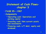 statement of cash flows chapter 3