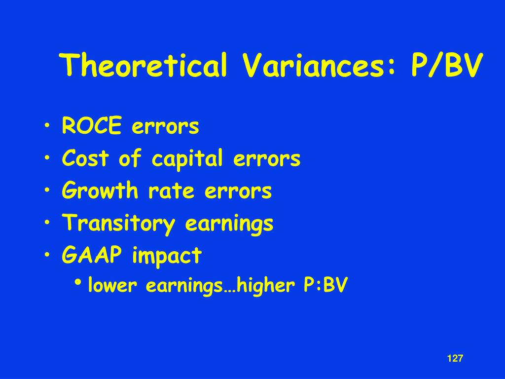 Theoretical Variances: P/BV