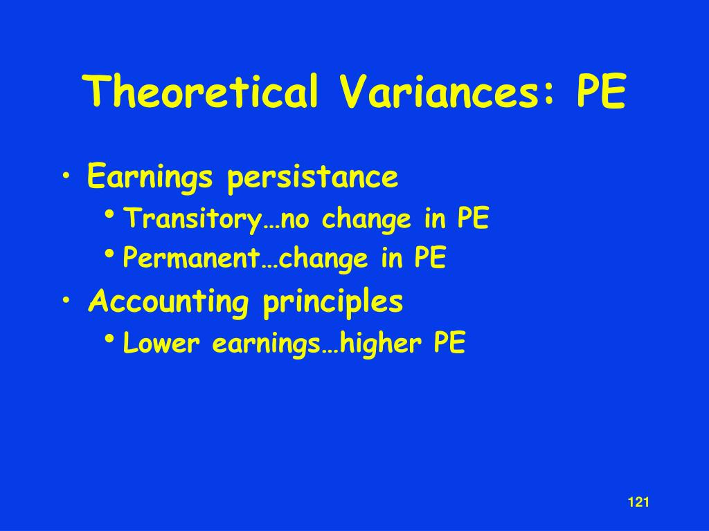 Theoretical Variances: PE