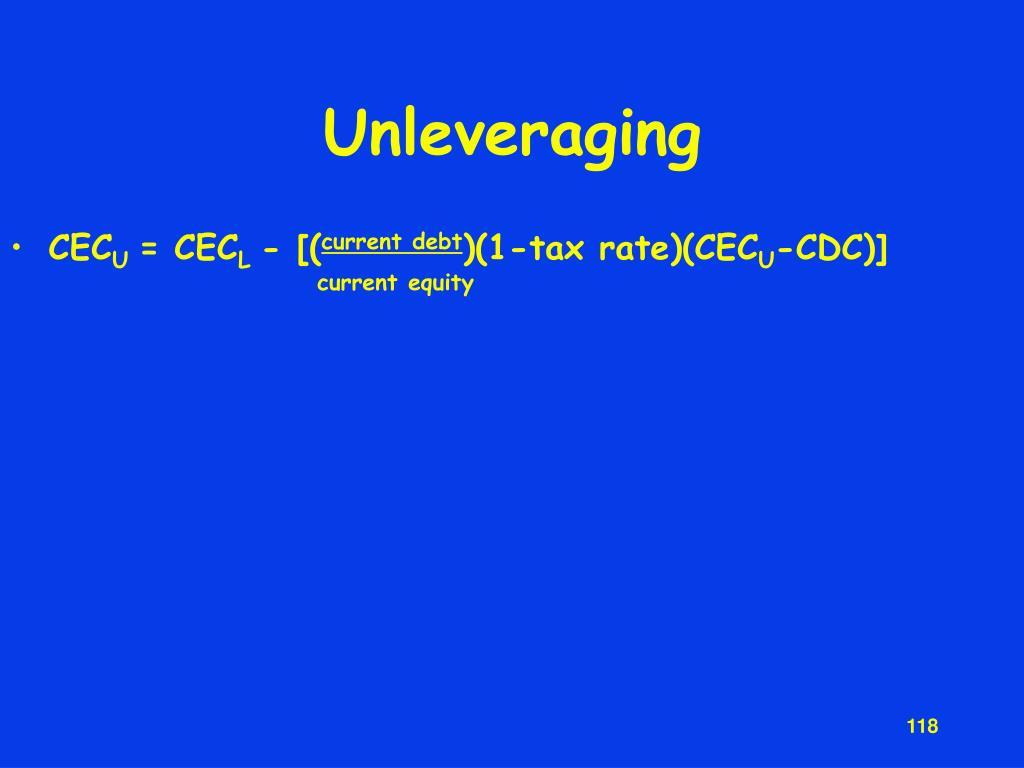 Unleveraging