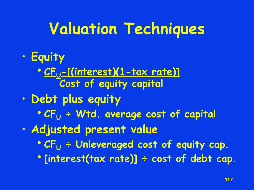 Valuation Techniques