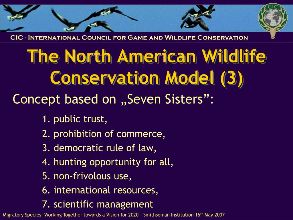 The North American Wildlife Conservation Model (3)
