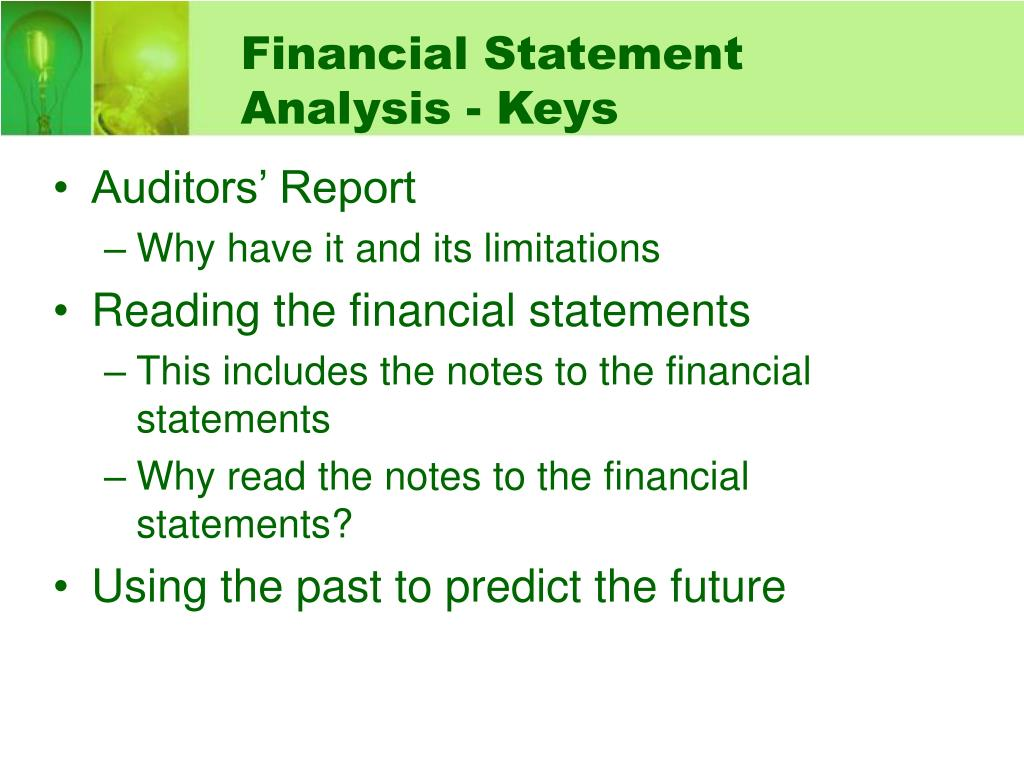 Financial Statement Analysis - Keys