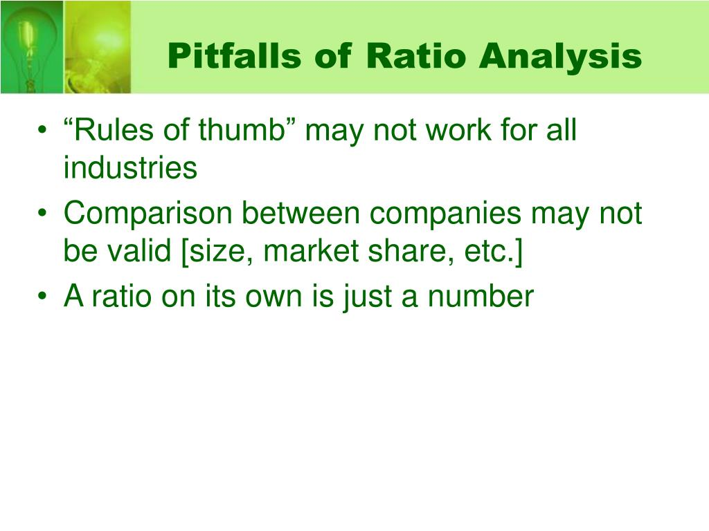 Pitfalls of Ratio Analysis