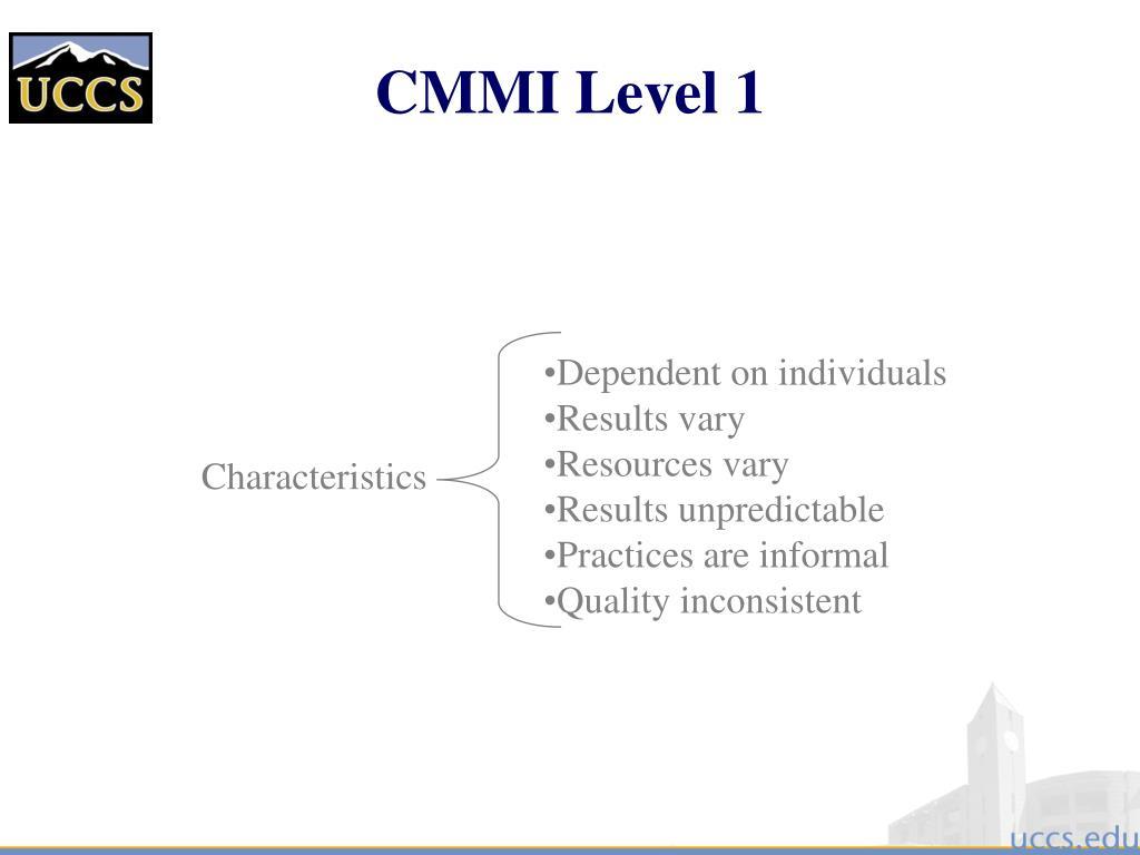 CMMI Level 1
