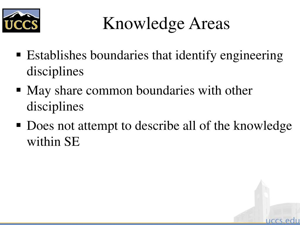 Knowledge Areas