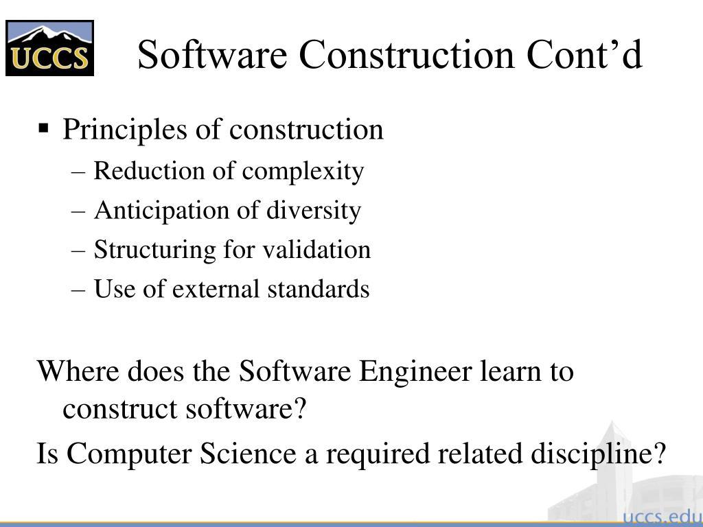 Software Construction Cont'd