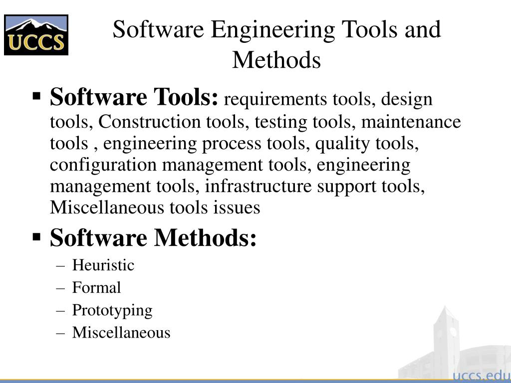 Software Engineering Tools and Methods