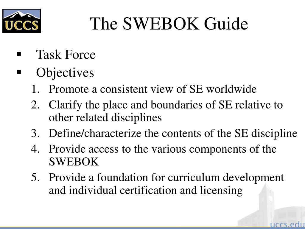 The SWEBOK Guide