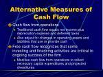 alternative measures of cash flow