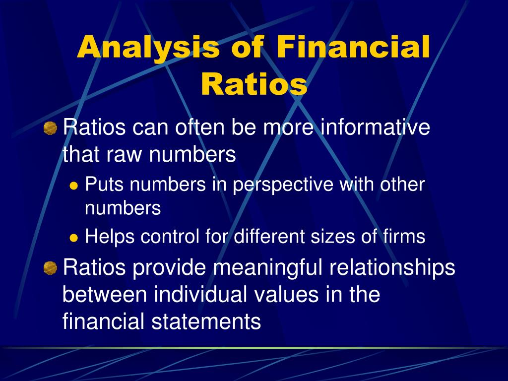Analysis of Financial Ratios