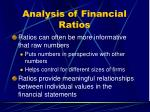 analysis of financial ratios