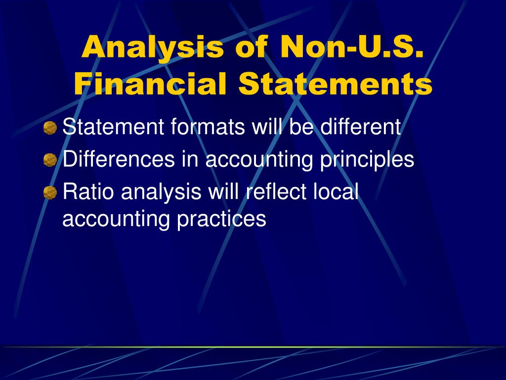 Analysis of Non-U.S. Financial Statements