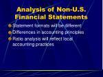 analysis of non u s financial statements