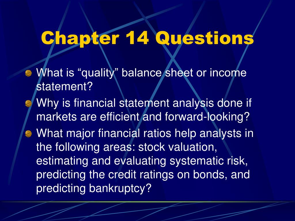 Chapter 14 Questions