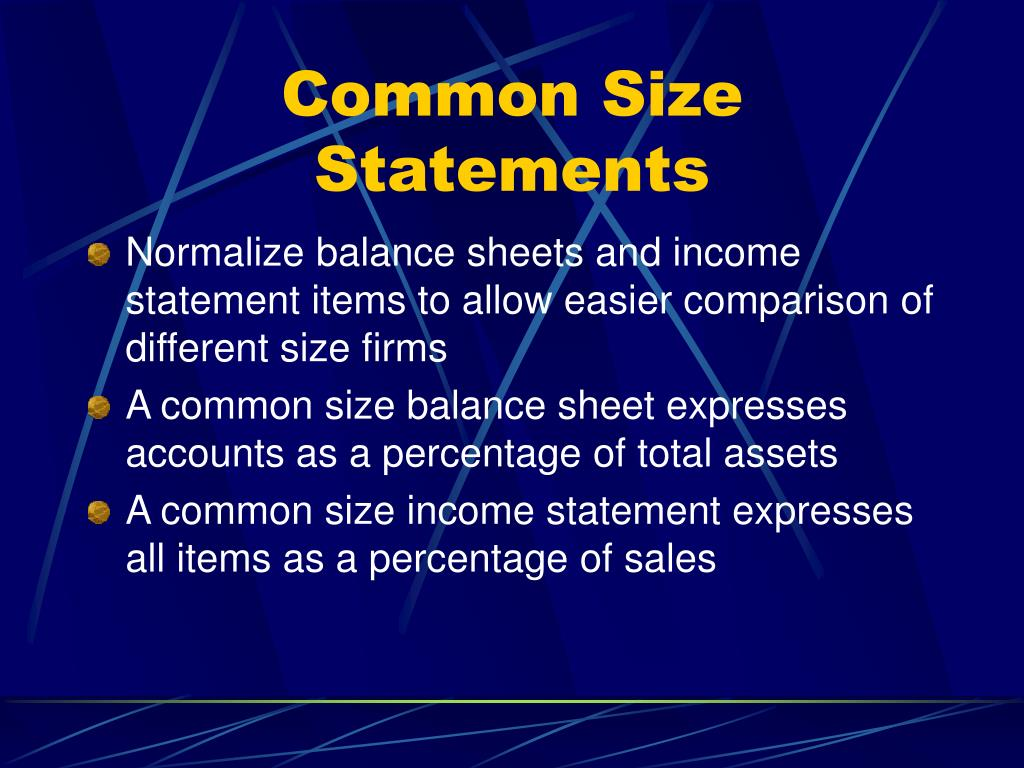 Common Size Statements