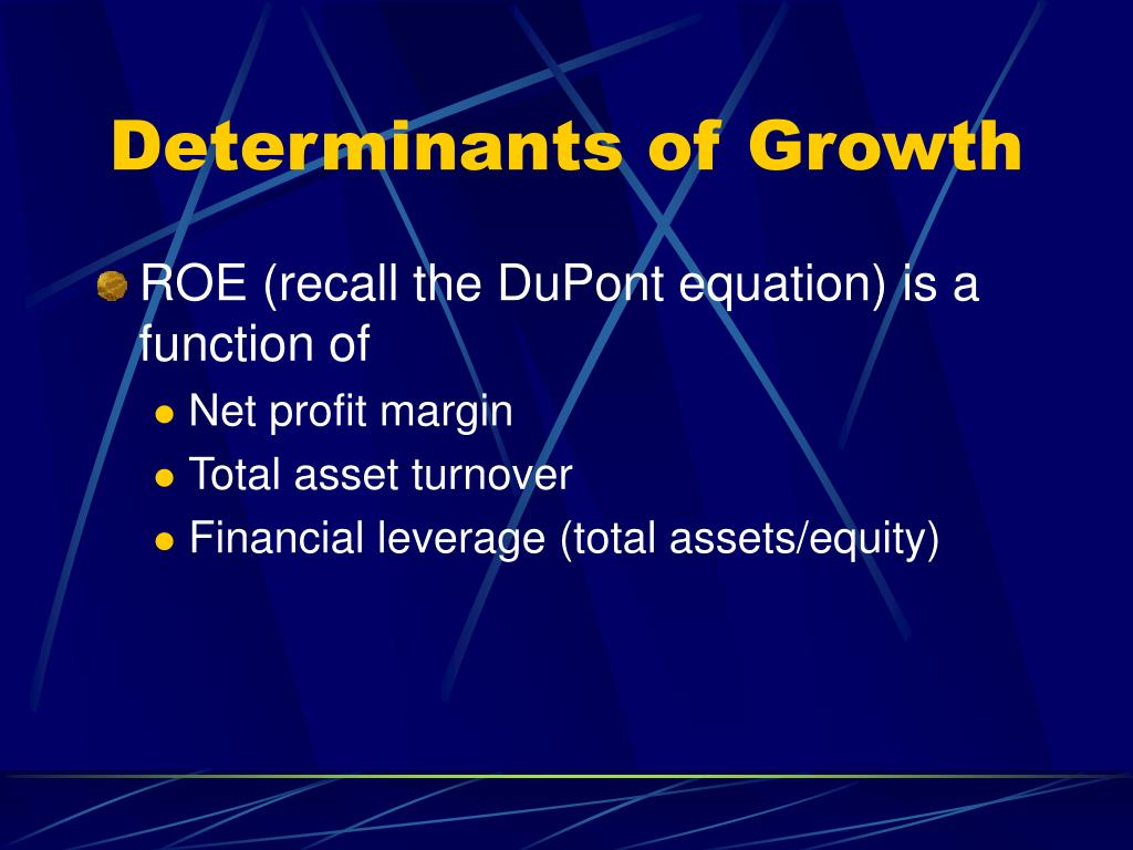 Determinants of Growth