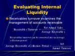 evaluating internal liquidity24