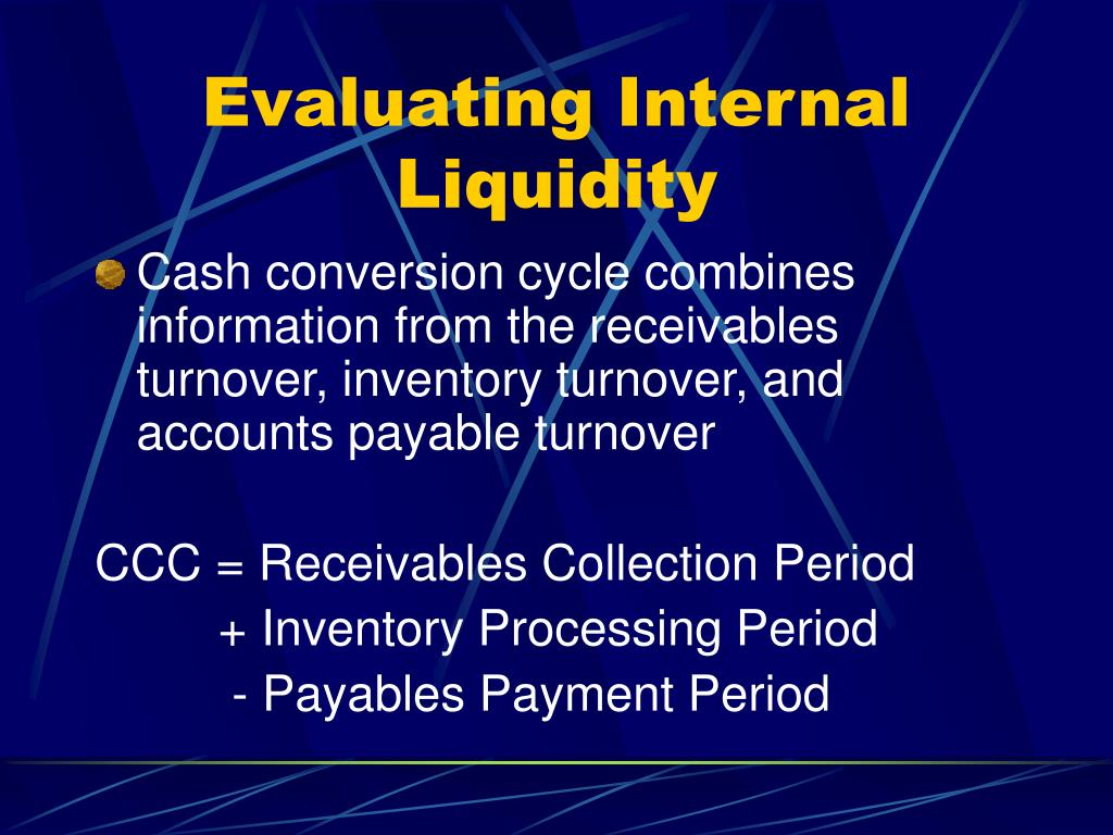 Evaluating Internal Liquidity