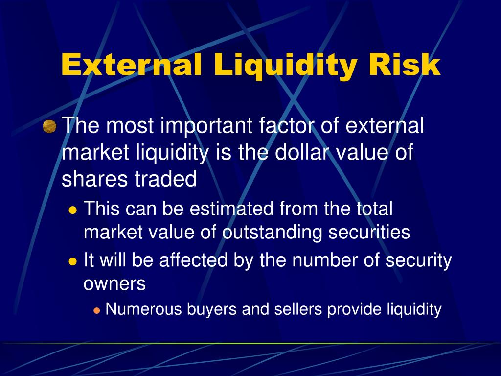 External Liquidity Risk