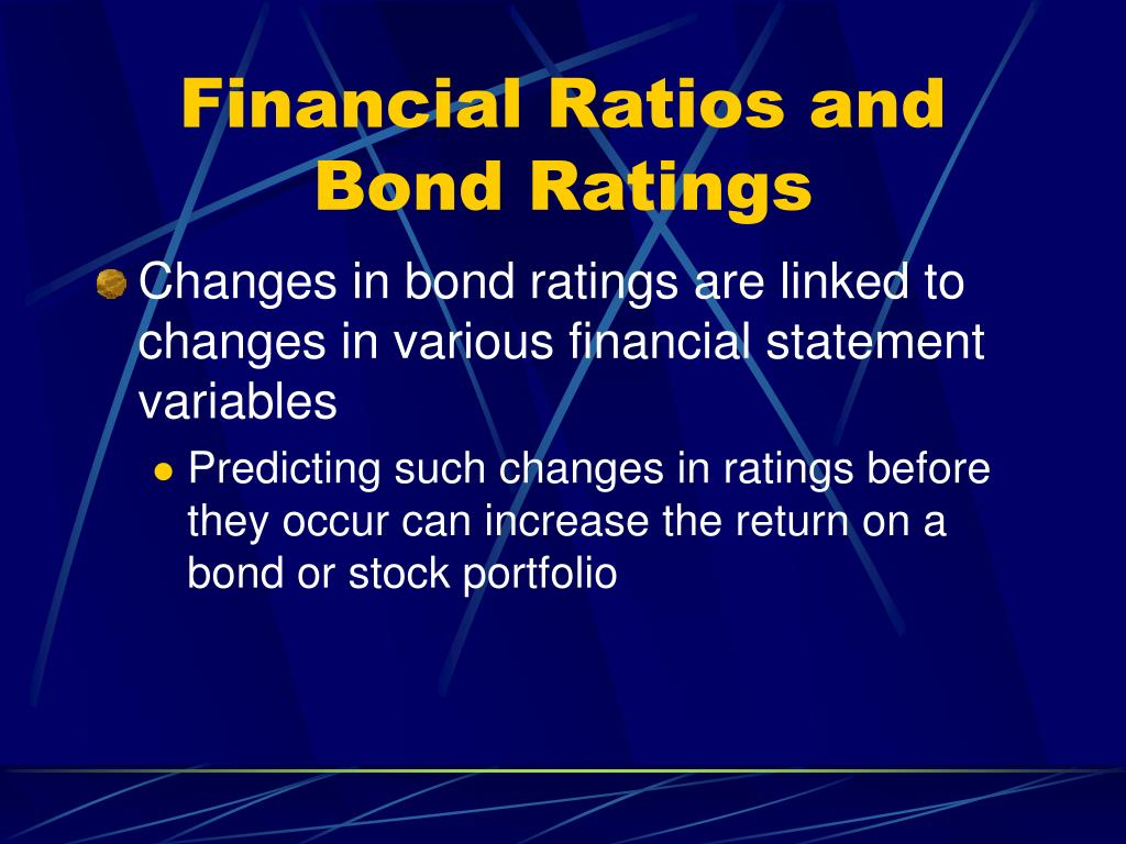 Financial Ratios and Bond Ratings