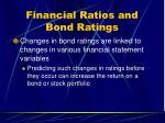 financial ratios and bond ratings