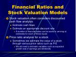 financial ratios and stock valuation models