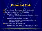 financial risk51