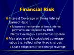 financial risk53