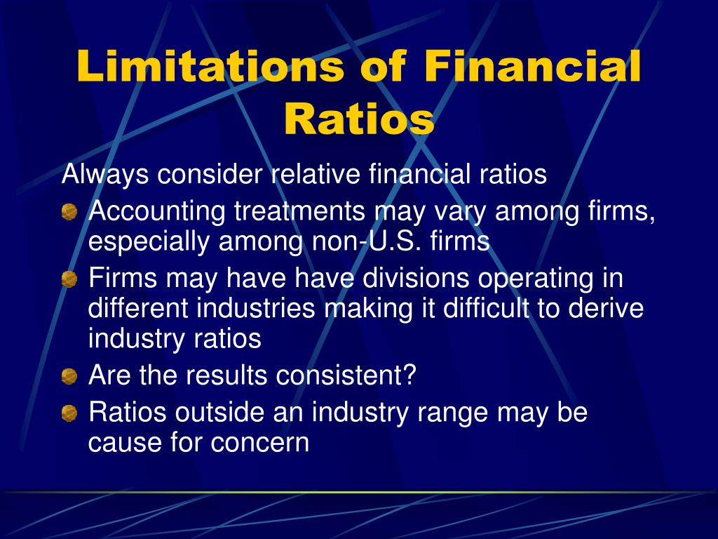 Limitations of Financial Ratios
