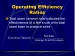 operating efficiency ratios