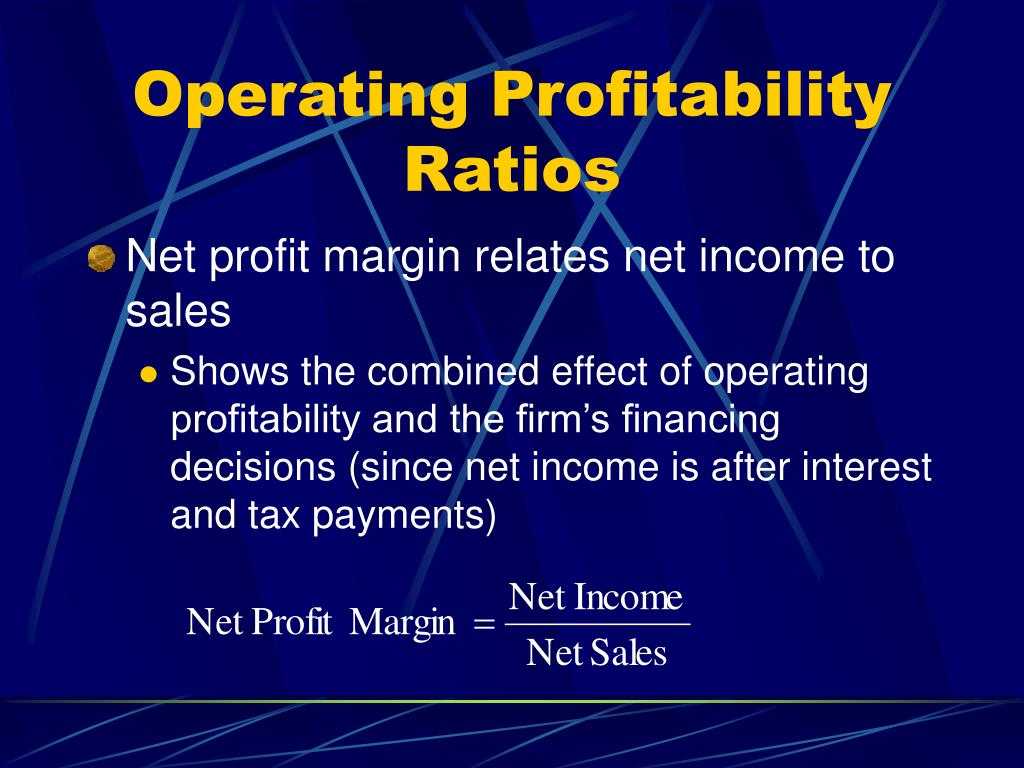 Operating Profitability Ratios