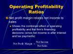 operating profitability ratios33