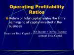 operating profitability ratios35